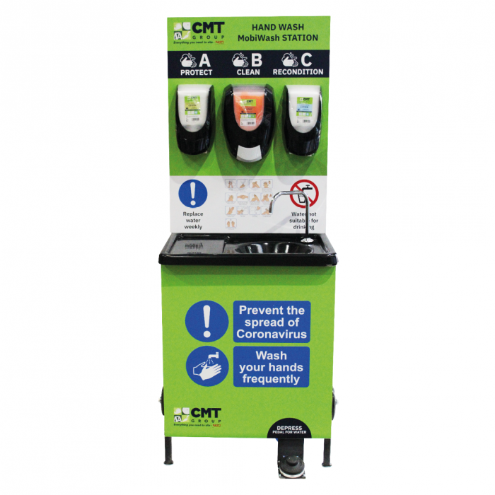 Mobile Hand Wash Sanitising Station C/W 3 Stage Cleaning system