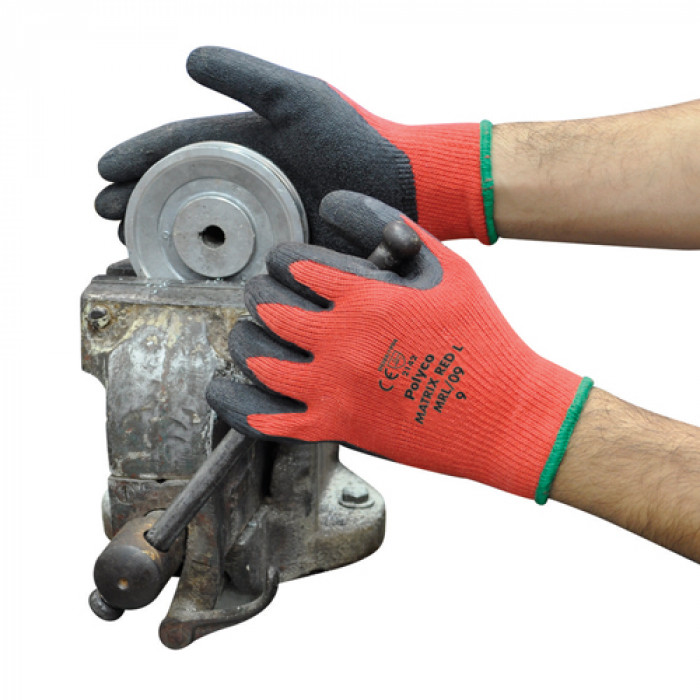 Matrix Red and Black - Latex (Cut Level 1 Glove) EN388