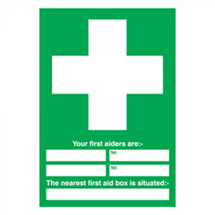 Your First Aider Sign