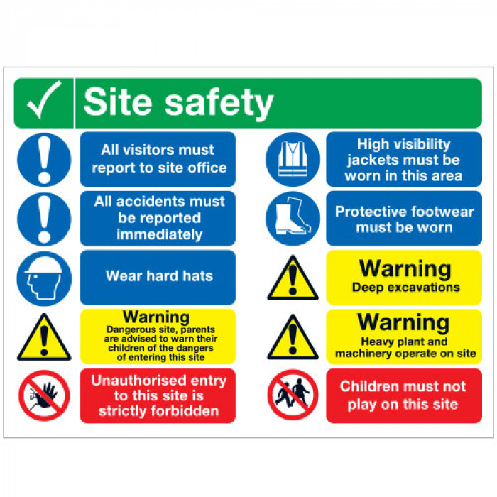 Site Safety Board Rigid PVC - A1