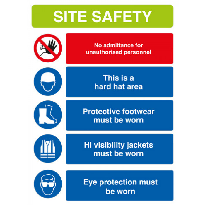 Site Safety Sign A2 Rigid PVC
