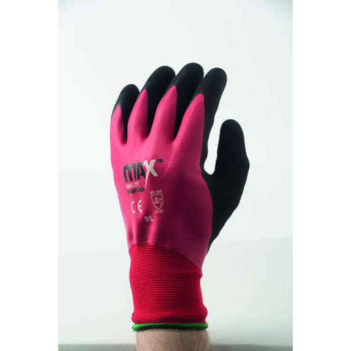 MAX Latex Red Cut Level 1 Glove