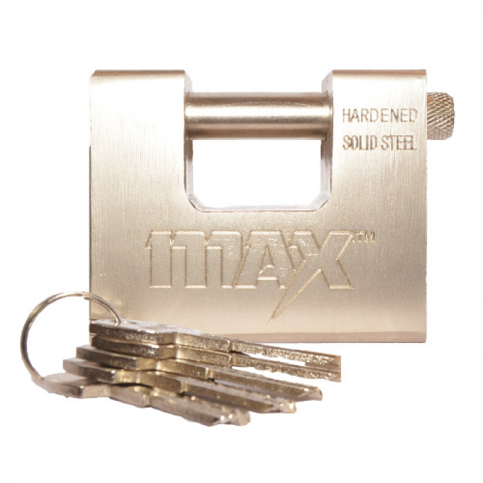 High Security Solid Steel Container Padlock w/5 Keys