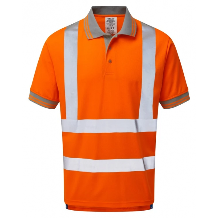 Pulsarail Short Sleeved Polo Shirt - Orange