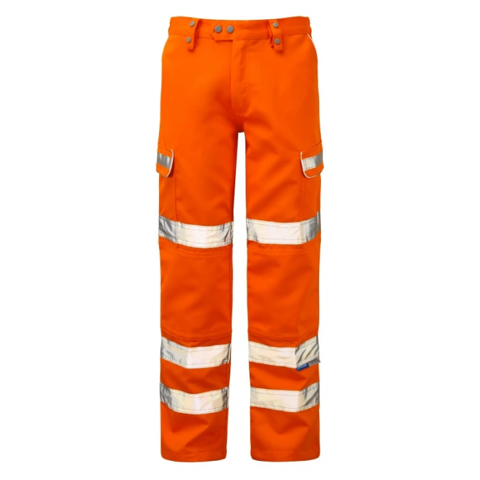 Pulsarail Hi-Visibility Teflon Coated Combat Trouser - Orange