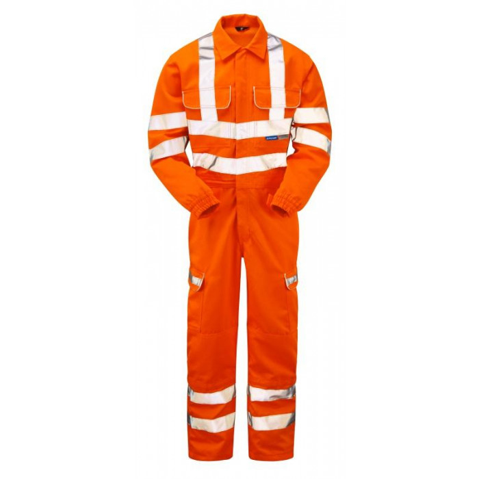 Pulsar Hi-Visibility Polycotton Combat Coverall - Orange