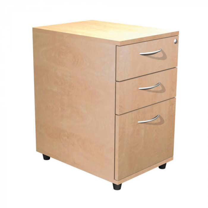 3 Drawer Pedestals In Light Beech