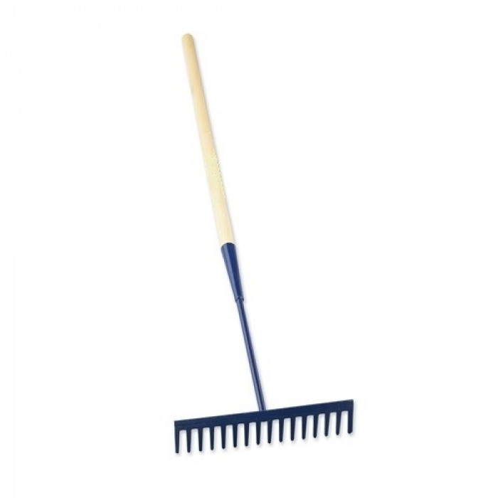 Square Tooth Asphalt Rake - Wooden Handle