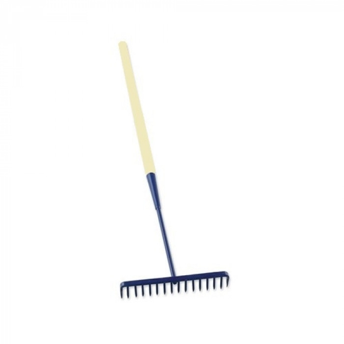 Round Tooth Tarmac Rake - Wooden Handle