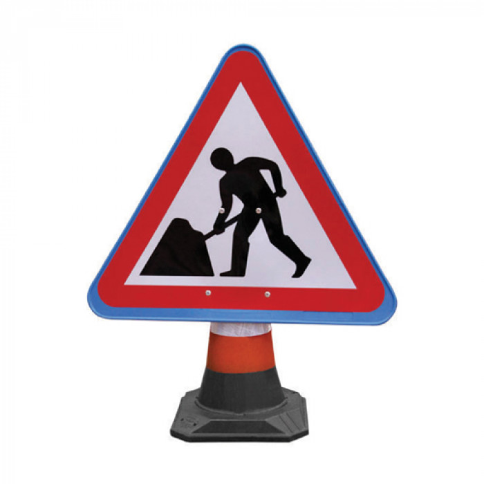 Cone Sign - Men at Work