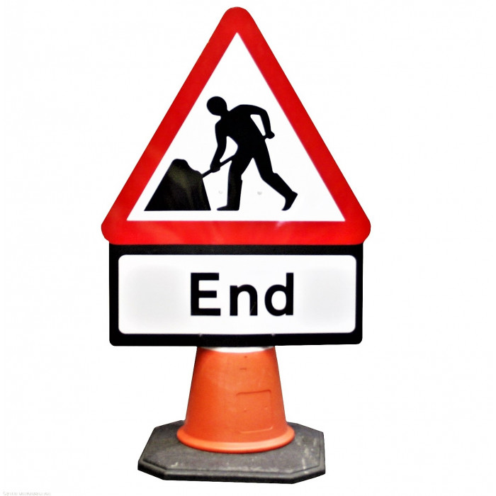 Cone Sign - Men at Work End