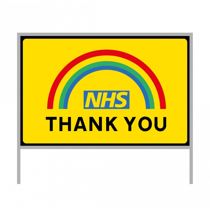 Road sign - Covid-19 - NHS Thank you - Size 1050 x 750
