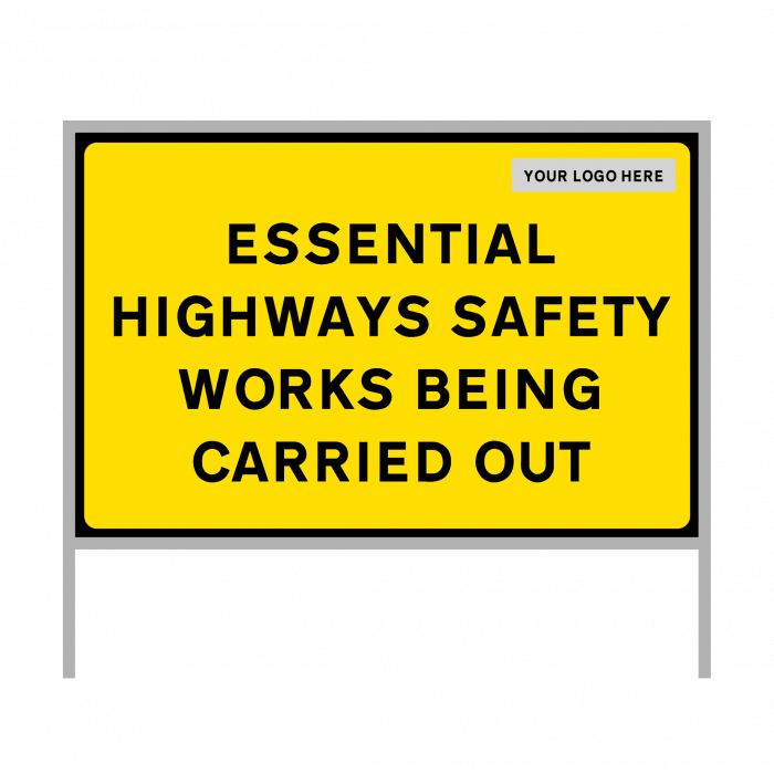 Road sign - Covid-19 - Essential highways safety works - Size 1050 x 750