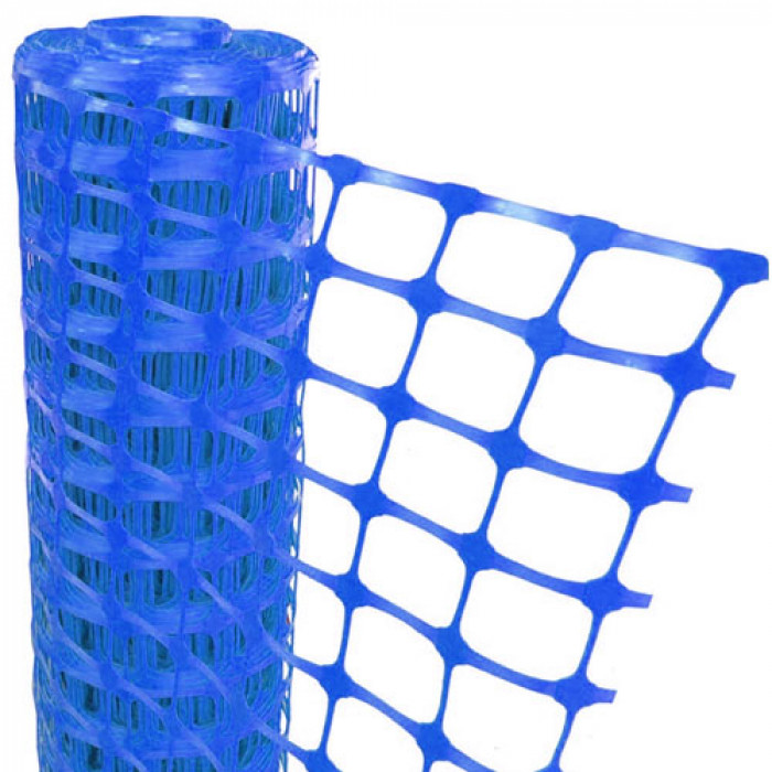Blue Mesh Barrier Fencing - 50m