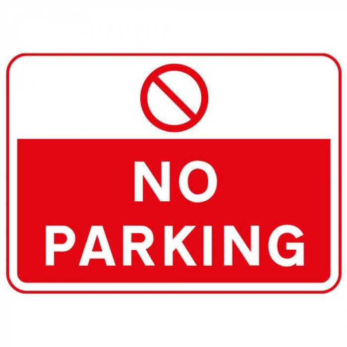 Metal Rectangle Plate Sign NO PARKING 600X450MM