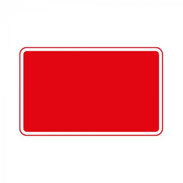 Metal Road Sign Plate Only - 1050x450mm Red