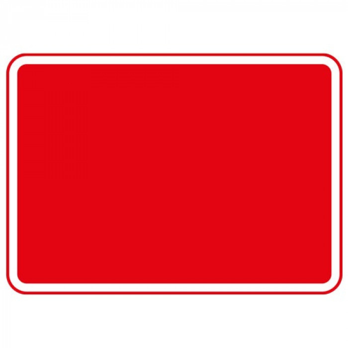 Metal Blank Plate Red 600 x 450mm