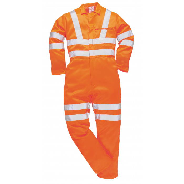 Hi-Vis Poly Cotton Coverall - Orange