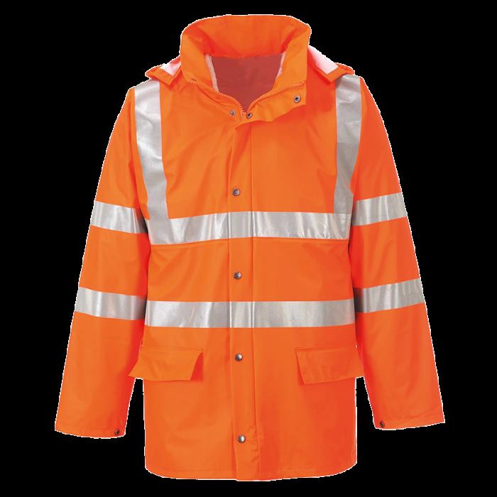 Orange Breathable Rain Jacket | CMT Group UK
