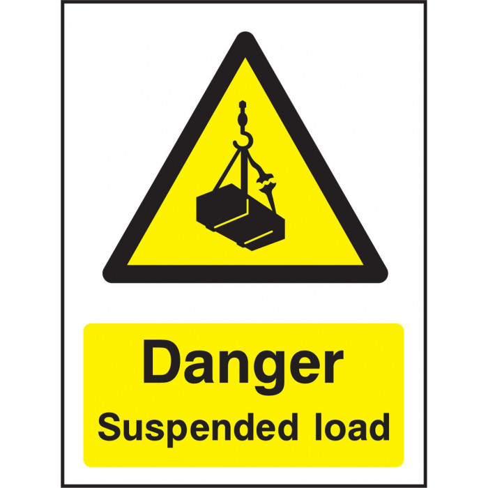 Danger Overhead Load Safety Signs