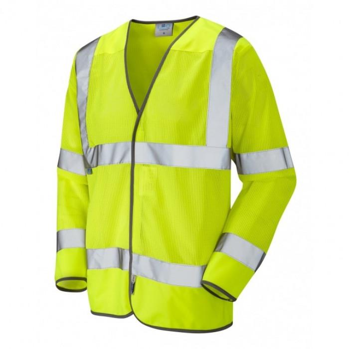 ISO 20471 Fremington Class 3 Coolviz hi viz Yellow Waistcoat - Large