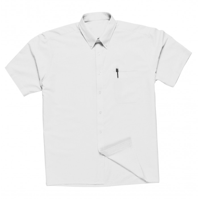 Oxford Shirts Weave - Short Sleeved - White