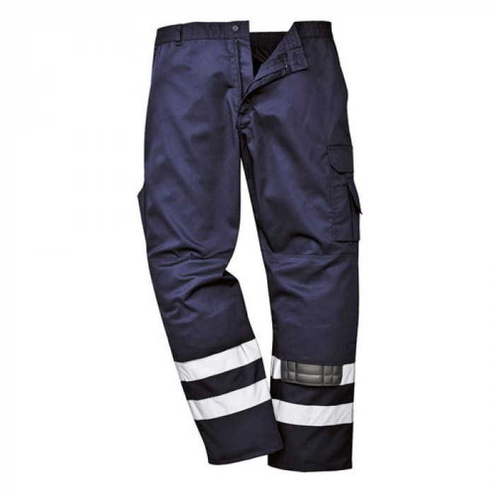 Iona Safety Trouser Double Band (Navy) 4XL Reg Leg