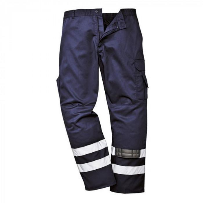 Iona Safety Trouser Double Band (Navy) 2XL Reg Leg