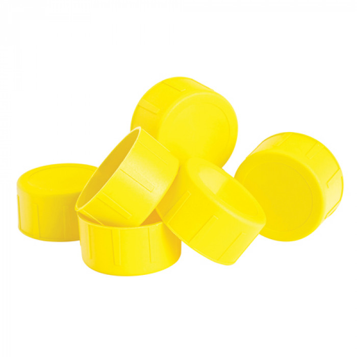 Yellow Scaffold Tube End Caps