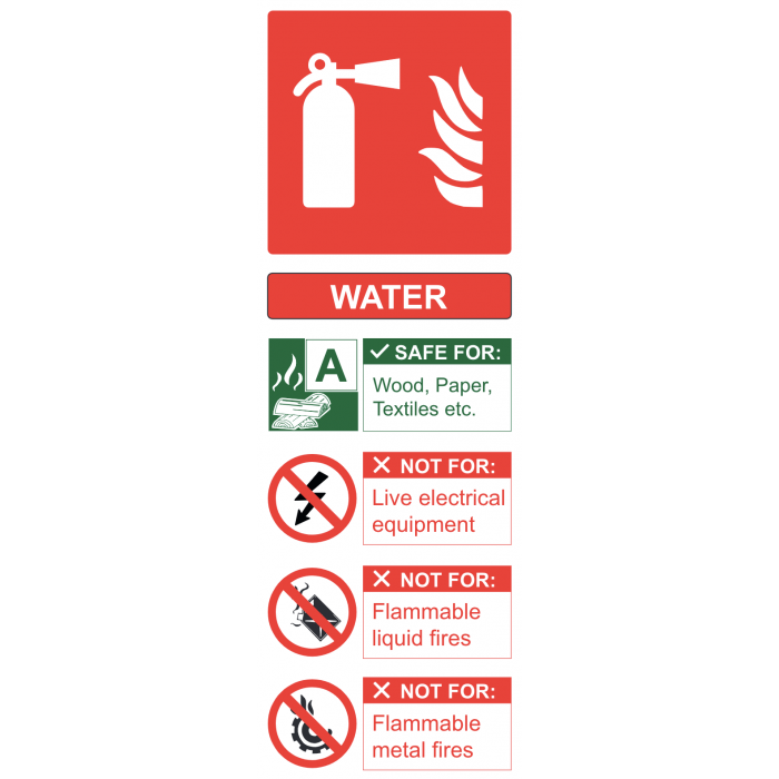 FR09424R | Site Safety Sign | Water Fire Extinguisher | CMT Group UK