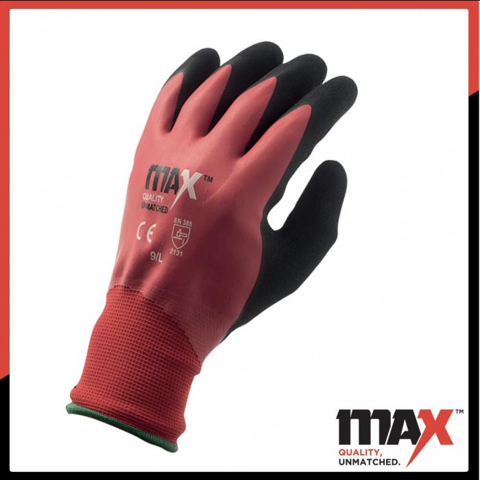MAX Latex Red Cut Level 1 Glove