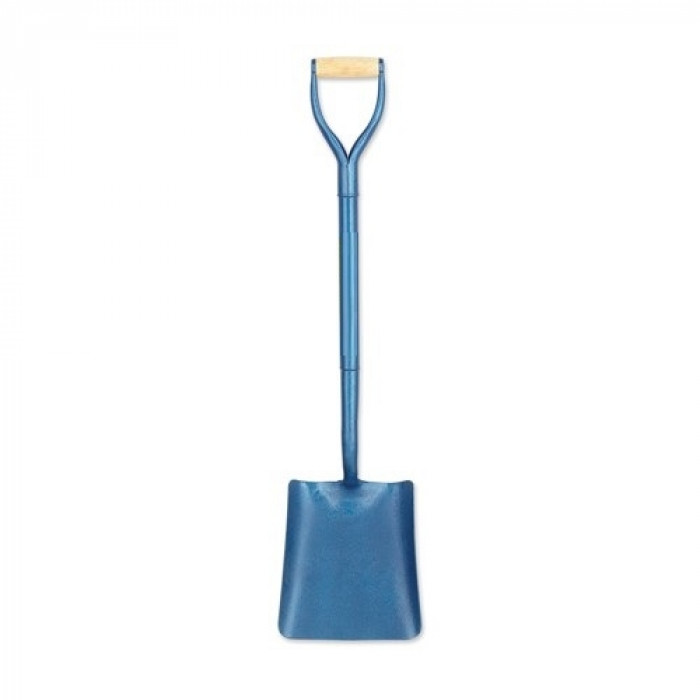 No 2 Square Mouth Shovel - Blue Full Body Steel