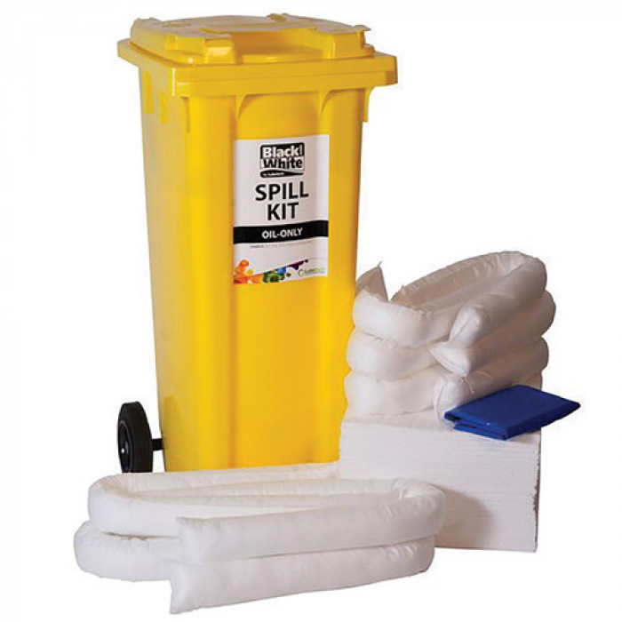 120 Litre Spill Kit - c/w Wheeled Bin