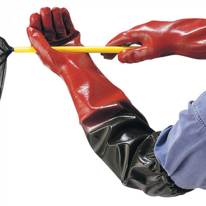 PVC Coated Full Arm Length Gauntlet - Size 7