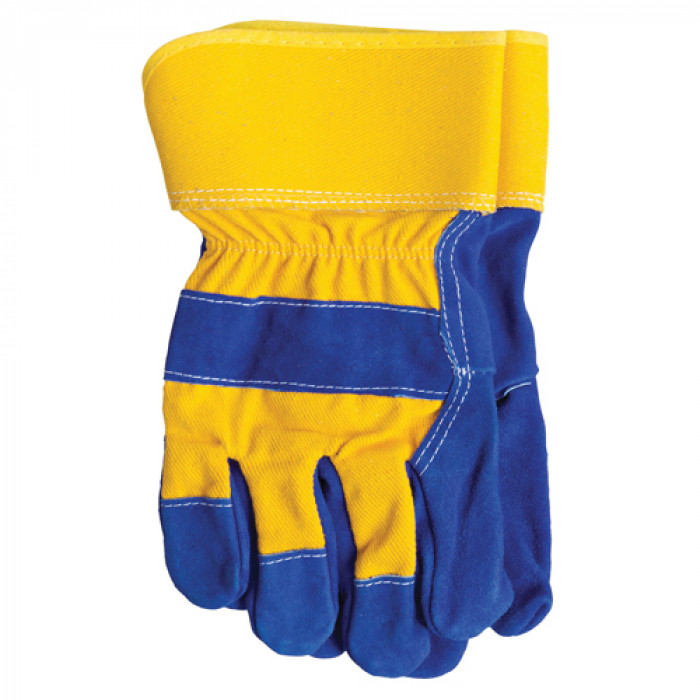 Heavy Duty Rigger Glove- Blue/Yellow