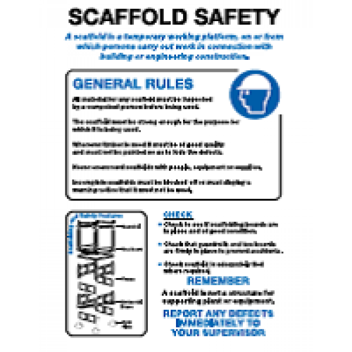 Scaffold Safety Poster