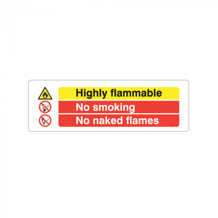 Highly Flammable, No Smoking, No Naked Flames