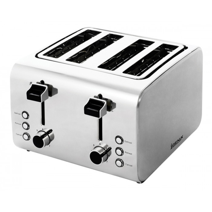 Stainless Steel Luxury Toaster - 4 Slices
