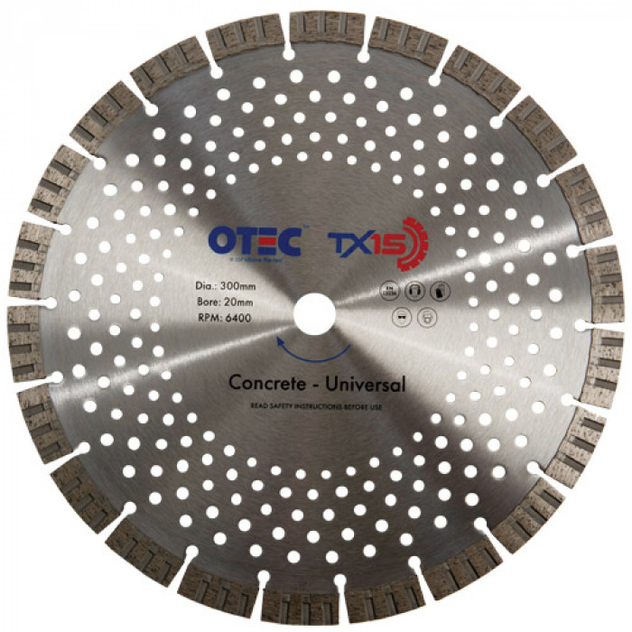 OTEC Premium Diamond Blade - Concrete Products - TX15-300/20