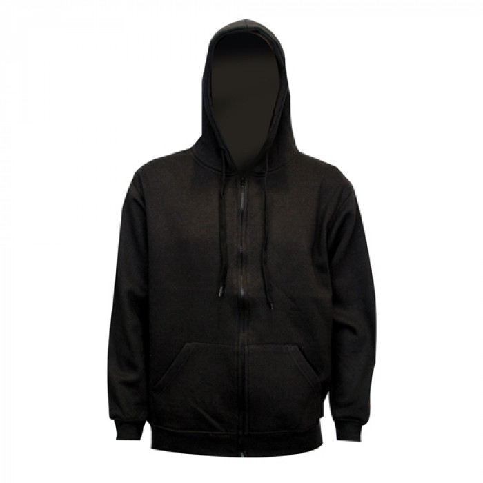 Classic Full Zip Hooded Sweatshirt - Black