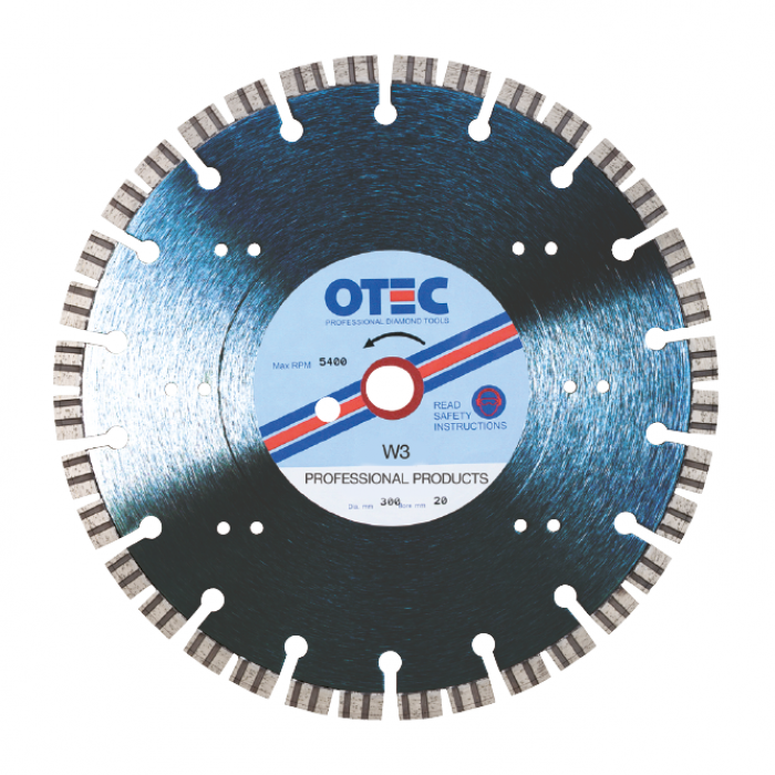 OTEC Professional Diamond Blade - Professional - Ultra Hard Bricks Clean Cut