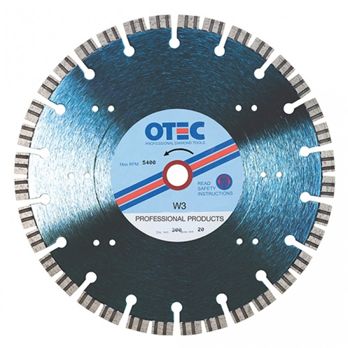 OTEC Professional Diamond Blade - Professional - Ultra Hard Bricks Clean Cut Silent Centre