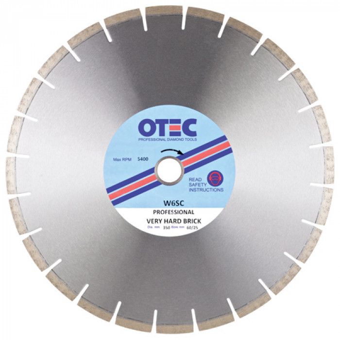 OTEC Professional Diamond Blade - Very Hard Brick - Silent Centre