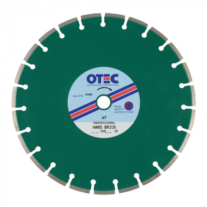 OTEC Professional Diamond Blade - Medium/Hard Brick Cutting