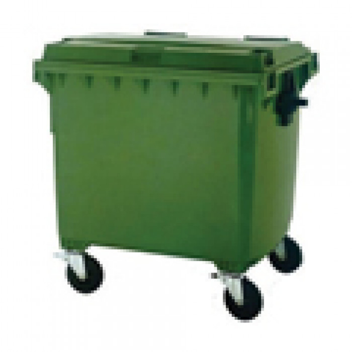 1100 Litre Green Wheelie Dustbin