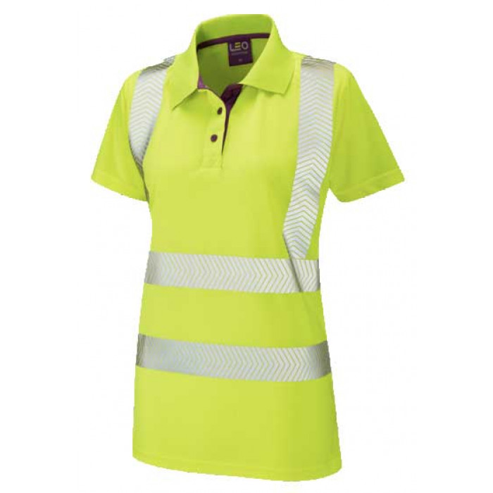 Hi Vis Women's Short Sleeve Yellow Polo Shirt | Women's Safety Clothing | CMT Group