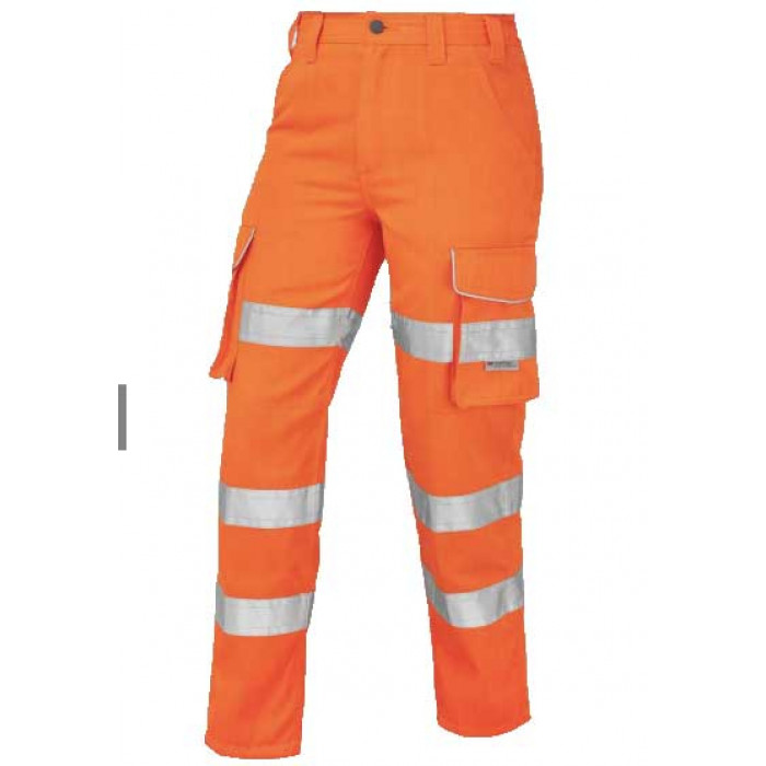 Women's Orange Polycotton Trousers | Women's Safety Clothing | CMT Group