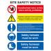 Site Safety Board A2 Rigid Plastic